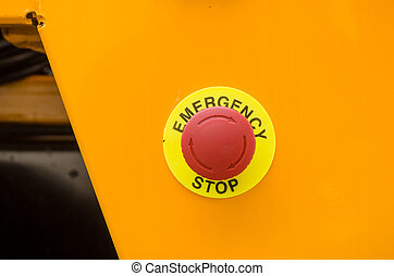 Emergency stop button on truck