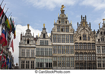 Antwerp City Center - Antwerp central square with Town Hall...