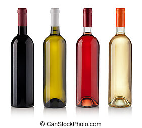 Set of Bottles isolated on white background - Set of white,...