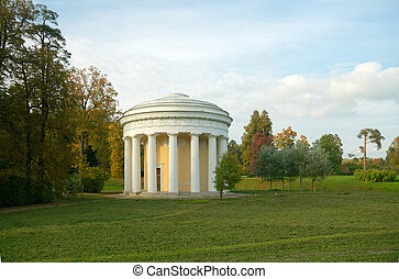 Temple of Friendship in Pavlovsk Park. St. Petersburg,...