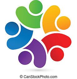 Teamwork 5 united people logo