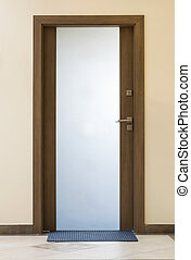 Modern closed glass door - Modern glass door - wood and...