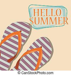 hello summer sunny backgrounf, illustration in vector format