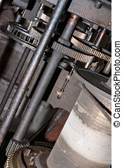 church clock machinery - Details clockwork of a church