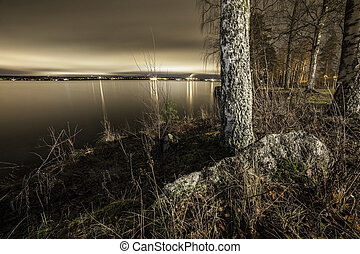 Finnish lake shore near to Tampere
