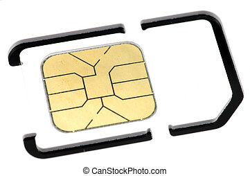 Mobile phone sim card - Close up of mobile phone sim card...