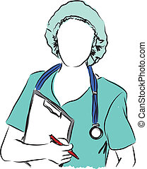 medical services nurse doctor illustration 2