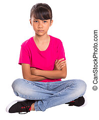 Young Girl Casual - Young Asian Malay girl with casual...