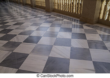 Marble floor, Indoor palace, Alcazar de Toledo, Spain