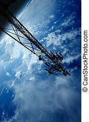 Space research - Space station structure on the orbit