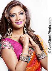 indian woman - beautiful woman wearing indian traditional...
