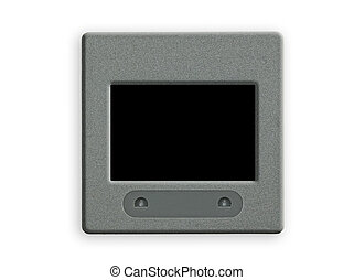 Blank 35 mm slide with frame on lightbox. - Blank 35 mm...