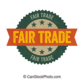 Label with the text Fair Trade