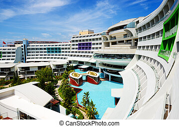 The modern luxury hotel, Antalya, Turkey