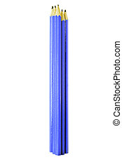 Blue Pencils isolated on white