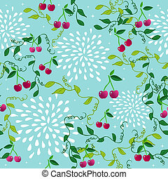 Seamless pattern with cherry