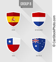 Brazil Soccer Championship 2014 Group B flags - Brazil...