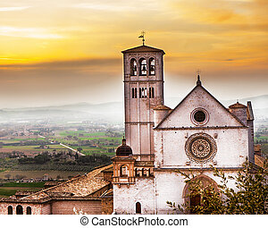 St Francis of Assisi Church at Sunrise - Scenic view of the...