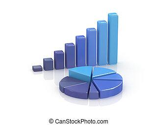business chart. 3d