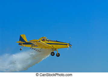 Crop duster aircraft.