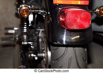 Tail lights on a motorcycle