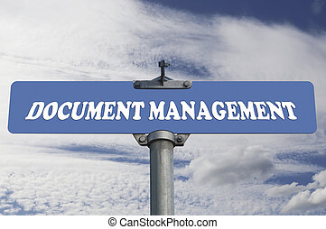 Document management road sign