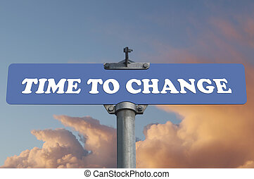 Time to change road sign