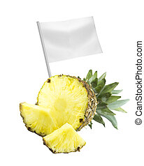 Healthy and organic food concept Fresh Ripe pineapple with...