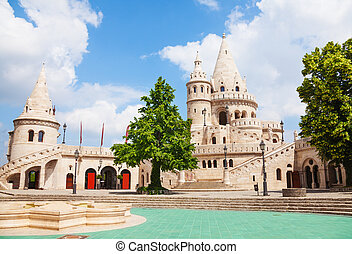 Beautiful Fisherman's Bastion in Budapest - Fisherman's...