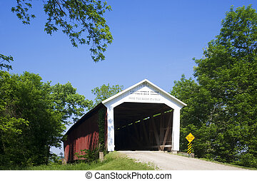 Covered Bridge - The McAllister Covered Bridge crosses...