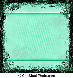 Blue grunge background. Old abstract vintage texture with frame and border.