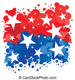 American Patriotic Background - An abstract illustration of...