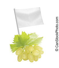 Healthy and organic food concept Fresh green Ripe grapes...