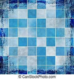 Blue grunge background. Old abstract vintage texture with...