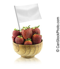 Healthy and organic food concept Fresh Strawberries with...
