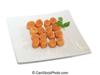 Indian sweets Kaja - Small traditional Indian sweets known...