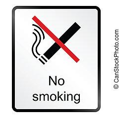 No Smoking Information Sign - Monochrome no smoking public...