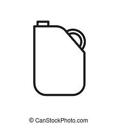 gas gallon outline vector - image of gas gallon outline...