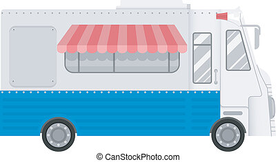Food Truck - Illustration Featuring a Generic Food Truck
