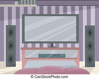 Entertainment Room - Illustration Featuring a High-tech...