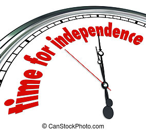 Time for Independence Clock Go Your Own Way Self Reliant -...