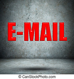 E-MAIL on concrete wall