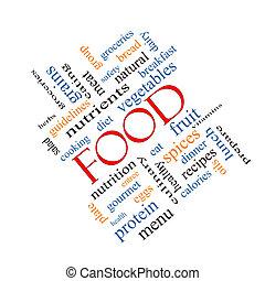 alimento, angular, concepto, palabra, nube
