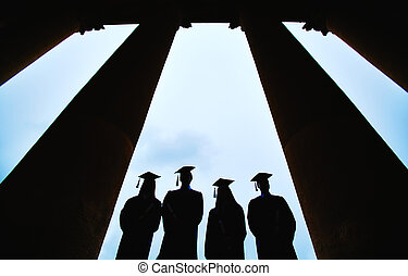 Graduates outlines - Outlines of four graduates between...