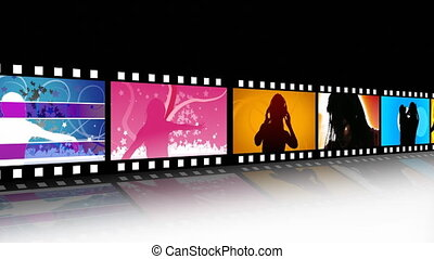 Entertainment Movie Film Strip - HD 1920x1080 Entertainment...