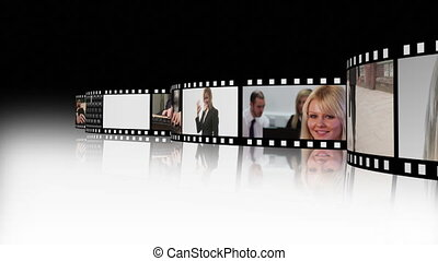 Film strip of Business people 2 - High Defintion Film Strip...
