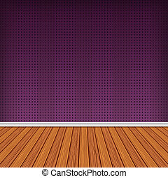Baccate Violet, pink Empty room, interior with wallpaper...