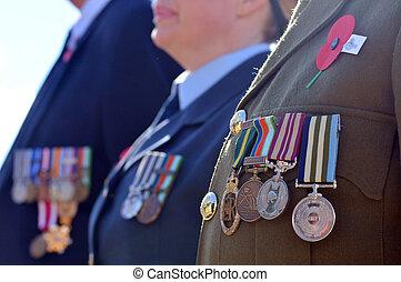 Anzac, día, -, guerra, monumento conmemorativo,...