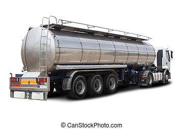 combustível, petroleiro, caminhão