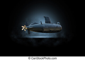 Submariner in the deep water